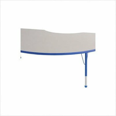 "48"" x 72"" Kidney Color Banded Adjustable Height Activity Table Frame Color: Blue, Leg Height: 23"""