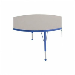 "48"" Round Color Banded Adjustable Height Activity Table Frame Color: Blue, Leg Height: 30"""