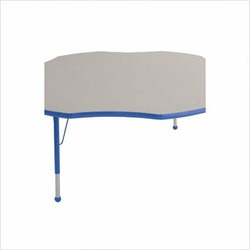 "60"" Flower Color Banded Adjustable Height Activity Table Frame Color: Blue, Leg Height: 30"""