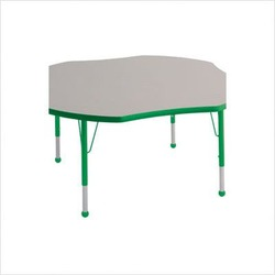 "48"" Clover Color Banded Adjustable Height Activity Table Frame Color: Green, Leg Height: 23"""