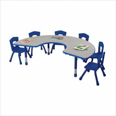Classroom Horseshoe Table Color: Fire Engine Red