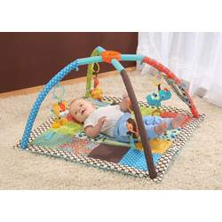 Infantino Square Twist and Fold Activity Gym, Vintage Boy