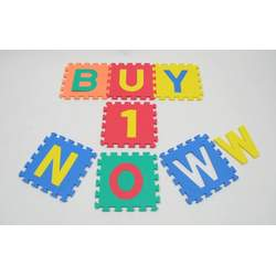 "Children Alphabet Letters and Counting Numbers (A-Z, 0-9) Soft Mat - Each Tile: 12"" X 12"" X 4/8"" Thick"