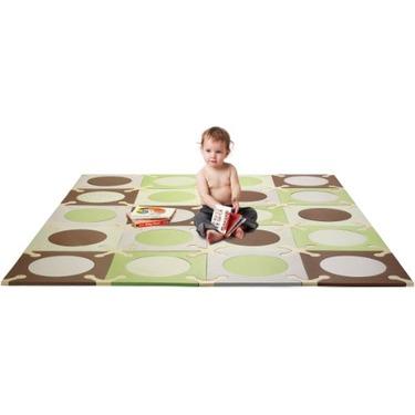"""Skip Hop 20 Piece 70""""x56"""" PlaySpot Floor Mat, Green/Brown"""