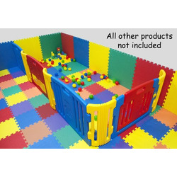 "Rainbow (6 Colors) Interlocking Wonder Foam Mats for Flooring & Carpets: 36 Pieces 12"" X 12"" X 4/8"" Thick"