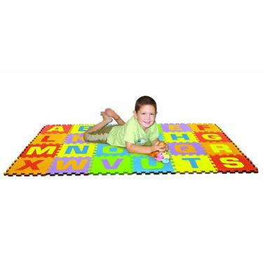 Edushape Edu-Tiles 26 Piece 6x4ft Play Mat, Uppercase Letters