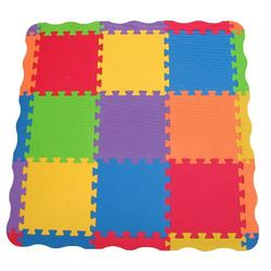 "Edushape Edu-Tiles 25 Piece 40""x40"" Solid Play Mat with Edges & Corners"