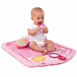 Bright Starts Tummy Time Prop and Play Mat, Little Blooms