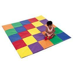 Children's Factory Primary Color Patchwork Crawley Mat