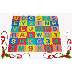 "Alphabet & Numbers Interlocking Soft Tiles - Each Mat: 12"" x 12"" x 4/8"" Thick"