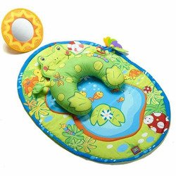 Tiny Love Tummy Time Fun Frog Activity Mat Plus The First Years First Keys Teether and Floating Stars Teether Bundle