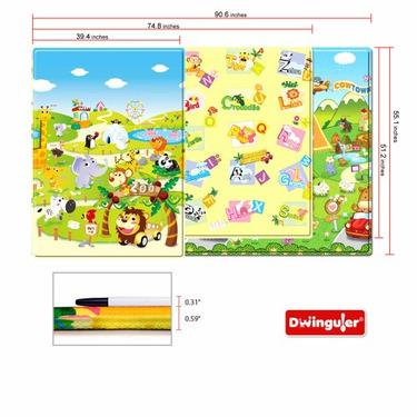 Dwinguler Eco-friendly Kids Play Mat - Safari Tour (Medium)