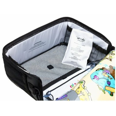 Eat-N-Play Black Cooler and Place Mat