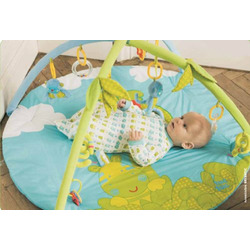 Blue Monkey Baby Activity Gym Play Mat. Selvatic Collection.