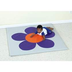 PURPLE/MIST FLOWER MAT