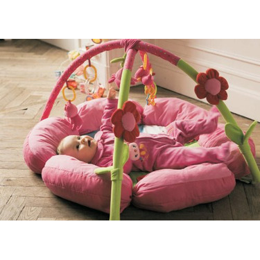 Pink Flower Baby Activity Gym Play Mat. Chip Chip Collection.
