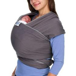 Moby Wrap Original 100% Cotton Solid Baby Carrier, Slate