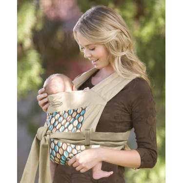 Infantino Wrap and Tie Baby Carrier, Khaki/Modern