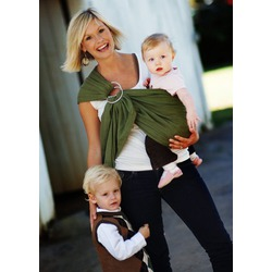 Maya Wrap Lightly Padded Sling in Olive Green, Medium