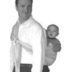 Lite-On-Shoulder Ring/Pouch Hybrid Baby Sling (Vintage Silhouette)