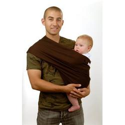 Peanut Shell Cotton Stretch Pouch Style Baby Sling, Brown, Small/Medium