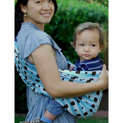 Lite-on-Shoulder Ring/pouch hybrid Baby Sling(Arabic Night)