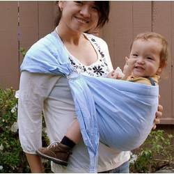 Lite-on-Shoulder Baby Sling(Baby Blue)