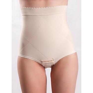 Peanut Shell Flats Post-Pregnancy Belly Compression Postpartum Girdle with Panel, Medium, Beige