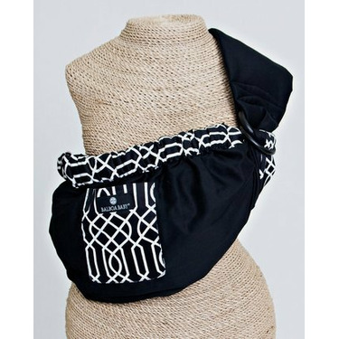 Balboa Baby Adjustable Sling by Dr. Sears - Black with Geo Trim