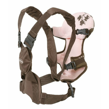 Infantino Style Rider Extended Wear Baby Carrier, Pink Chocolate