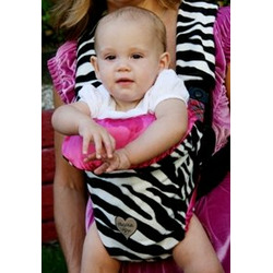 Baby Carrier Cover in Zoe Zebra - Carrier Type: Active