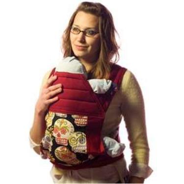 BabyHawk Mei Tai Baby Carrier Black Calaveras on Cherry Straps with Bonus Dainty Baby Reusable Bag