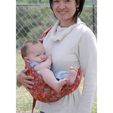 Lite-on-shoulder Ring/pouch Hybrid Baby Sling(Ruby fan-tacy)