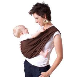 HugaMonkey Brown Baby Sling (Small)
