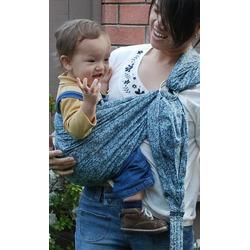 Lite-on-Shoulder Baby Sling(Teal Spirals-Grey)