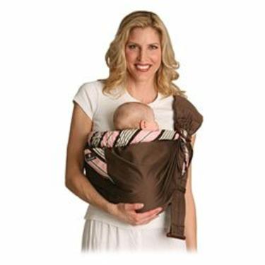 Balboa Baby Adjustable Sling - Pink and Brown
