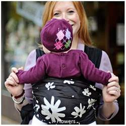 Moby Wrap Moby D 100% Silk Baby Carrier, Flowers