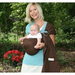 Maya Wrap Lightly Padded Baby Sling - Chocolate - Medium