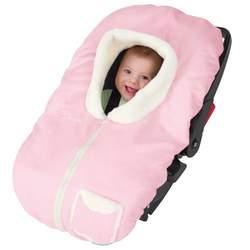 Kiddopotamus PoshPouch Premium Baby Carrier Cover Faux Seude & Fur, Pink