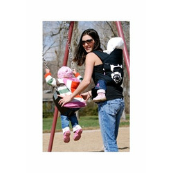 Babyhawk Mei Tai Baby Carrier Sophia Black on Black Straps with Bonus Dainty Baby Reusable Bag