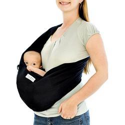 Karma Baby Organic Cotton Twill Baby Sling - Black (L)
