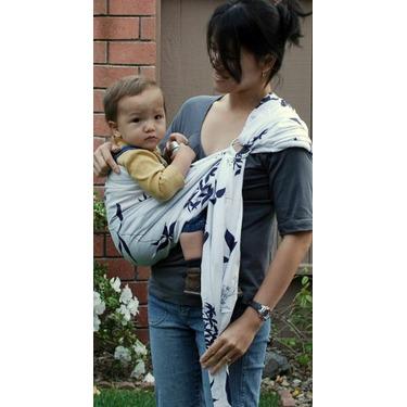 Lite-on-Shoulder Pouch/rings Hybrid sling (Shodo-white) Large