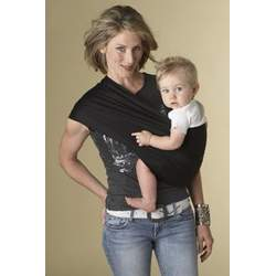 Hotslings Black Stretch Baby Carrier Sling Pouch Size 1