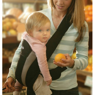 Infantino Side Seater Baby Carrier in Black and Grey