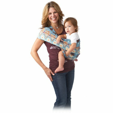 Hotslings Everyday Baby Pouch Sling Sateen Stretch Child Carrier, Indian Summer Size 5 (L)