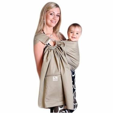 Zolowear Organic Cotton Baby Sling Khaki, Medium
