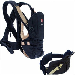 Baby Carrier System in Black with Tan Trim Color: Black with Tan Trim