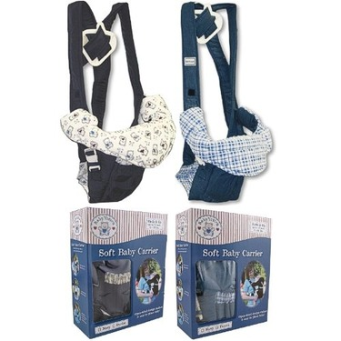 Luvable Friends Deluxe Soft Baby Carrier, Denim
