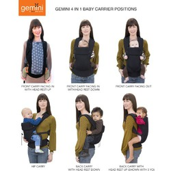 Beco Gemini 4-in-1 Baby Carrier - Espresso