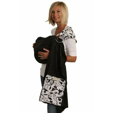 Organic Maya Wrap - Lightly Padded - Charcoal ECLIPSE Black -Small